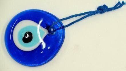 Blue Glass Turkish Eye 2,16 inch.